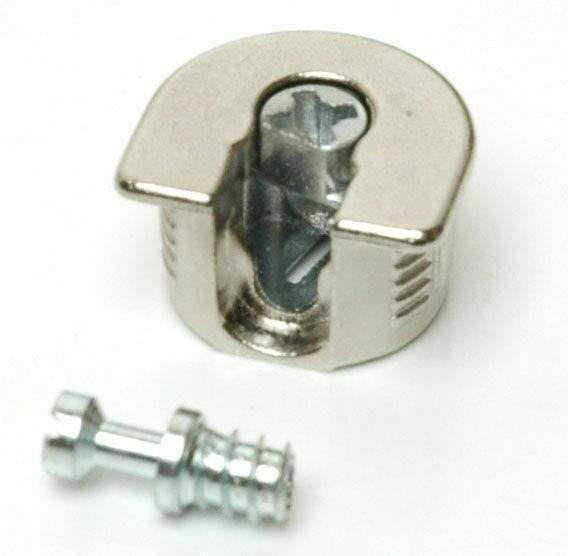 Стяжка-полкодержатель для плиты 16мм, +дюбель L=7.5мм FIRMAX, цинк, никель (2 части). FRM0408.67