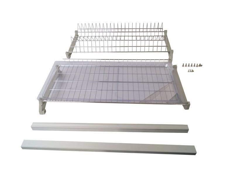 Комплект сушек для посуды FIRMAX база 800, ширина 768мм, с рамой (сушка для тарелок, сушка для чашек, поддон, саморезы). FRM5089.080