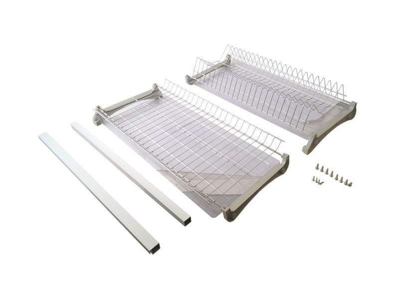 Комплект сушек для посуды FIRMAX база 900, ширина 868мм, с рамой (сушка для тарелок, сушка для чашек, поддон, саморезы). FRM5089.090