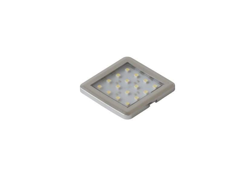 Светильник светодиодный P-SQUARE2-AL-TR-BZ, квадратный, холодный свет. LED0006