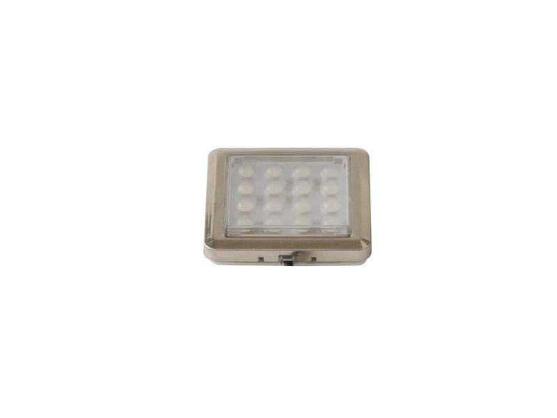 Светильник светодиодный Quatro2-CH-60K-03, квадратный, холодный свет. LED0005