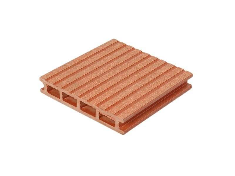 Террасный профиль Wooddecker Комфорт крупный вельвет с брашингом красная глина 25х145х6000 мм (0.87 кв.м.). WDK5811.502