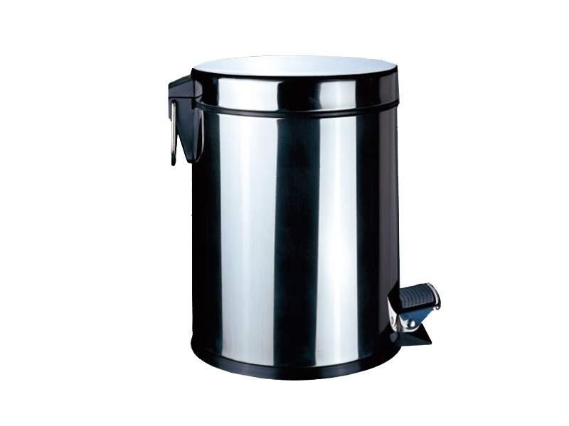 Ведро для мусора 12 л (хром). MKSLG006-12L