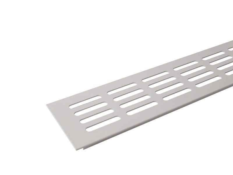 Вентиляционная алюминиевая решетка Bauset для подоконника 800/80 мм, белая. ROS0502.07