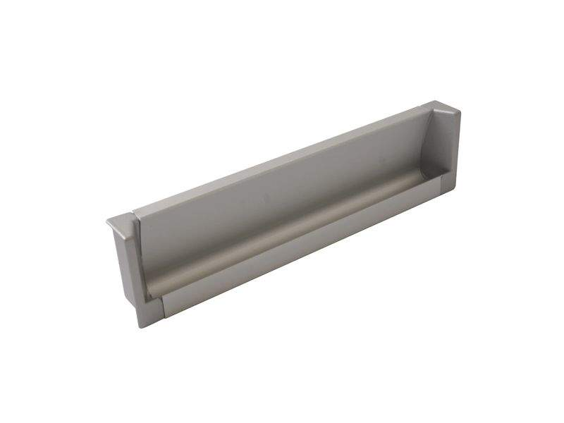 Врезная ручка 160мм, алюминий/серебро. COS0018.6090.VR160