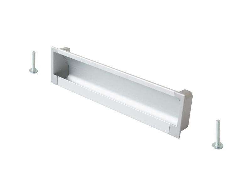 Врезная ручка 160мм, алюминий/серебро. COS0020.6090.VR160