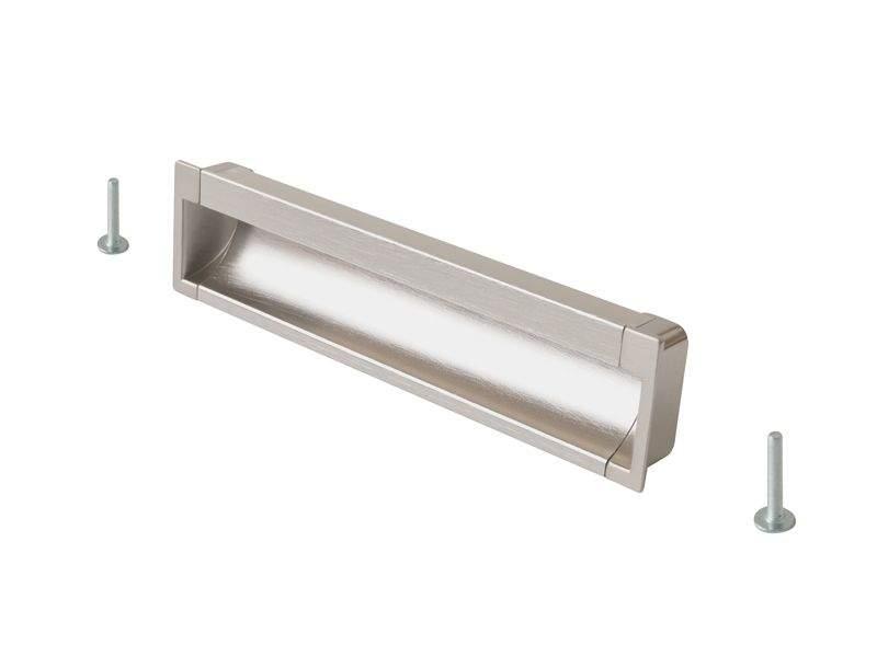 Врезная ручка 160мм, нержавеющая сталь/шлифованный никель. COS0020.2050.VR160