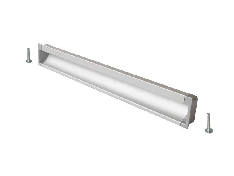 Врезная ручка 320мм, алюминий/серебро. COS0020.6090.VR320