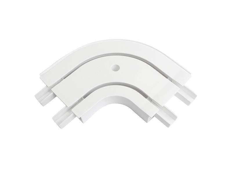 Закругление наружное для шины потолочной 2-х рядной 90 градусов, белое. ESK20620