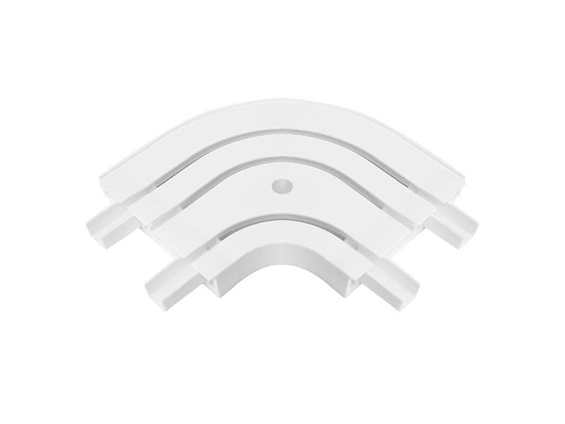 Закругление наружное для шины потолочной 3-х рядной 90 градусов, белое. ESK20630