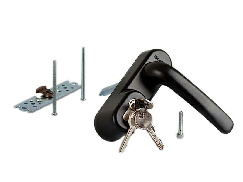 Ручка наружная для системы антипаника с профильным цилиндром (ключом)