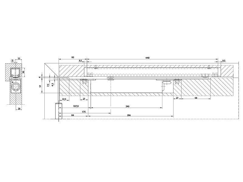 Доводчик врезной Boxer EN2-4 б/тяги, серебро