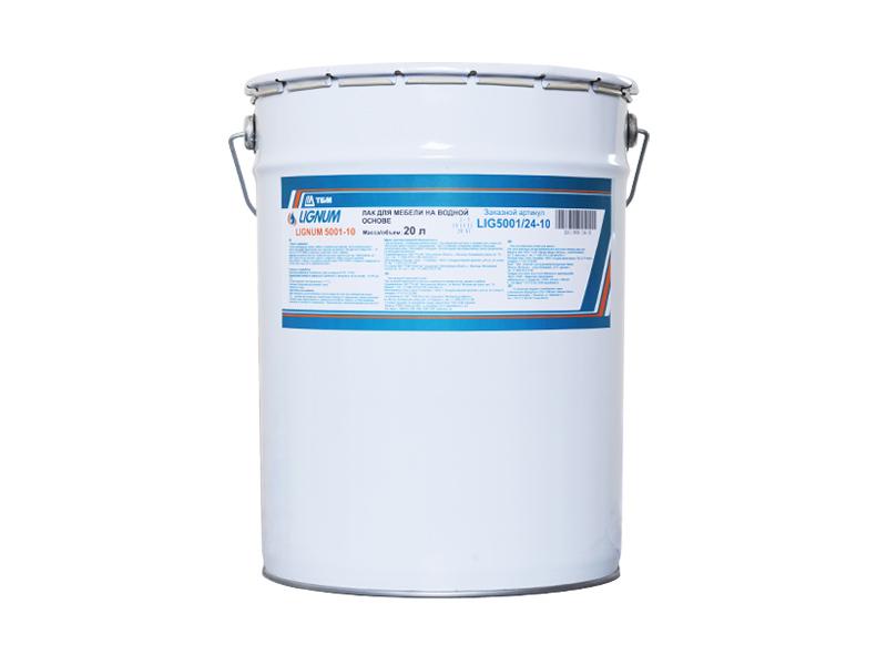 LIGNUM 5001-10 Лак для мебeли и столярных изделий на водной основе, норма упаковки -20 кг