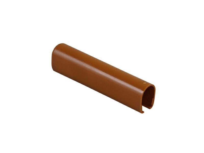 Накладка декоративная нижней петли на створке светло коричневая RAL8001