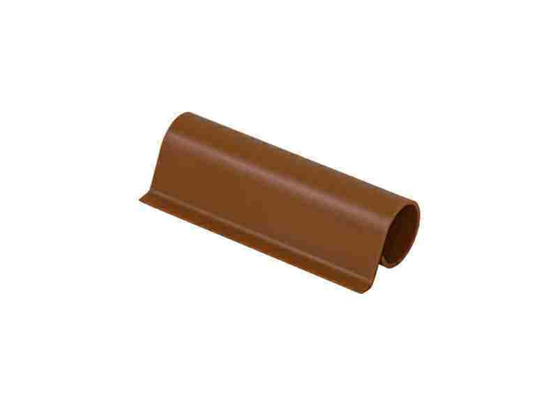 Накладка декоративная верхней петли створки светло коричневая RAL8001
