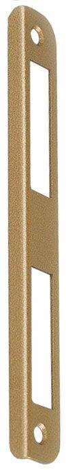 № 1 (уголок 8 мм) Планка ответная дверная ,ригиль и фальевая, бронза, универсальная для дверей с наплавом