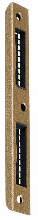 №4FN Планка ответная для деревянны дверейпрямоугольная бронза
