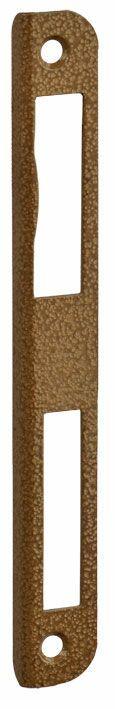 №3 N Планка ответная  дверная, ригиль и фалевая, бронза, правая