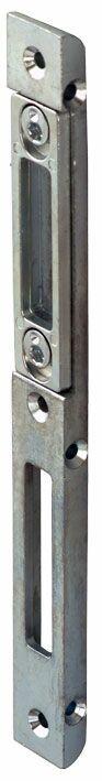 19503V Планка ответная  ригильная/защёлка для  деревянных дверей, оцинкованная