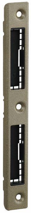 Nr 4501-20 Планка ответная дверная, ригильная и фальевая, серебристая