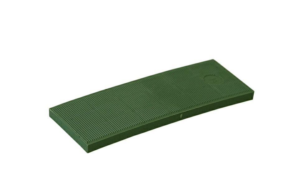 Пластина рихтовочная Bistrong 100x30x5 зеленая