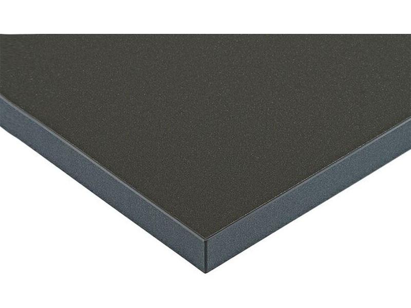 Плита МДФ LUXE антрацит металлик (Antracita Pearl Effect) глянец, 1220*18*2750 мм