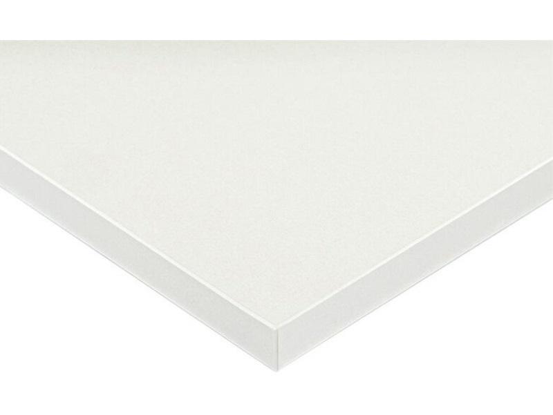 Плита МДФ LUXE белый металлик (Blanco Pearl Effect) глянец, 1220*18*2750 мм