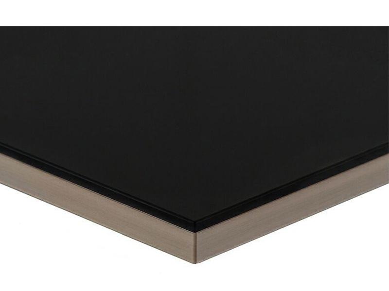 Полотно МДФ LUXE черный (Negro) глянец, 1220*18*2750 мм, Т1