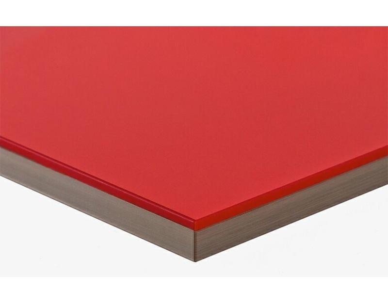 Полотно МДФ LUXE красный (Rojo) глянец, 1220*18*2750 мм, Т2