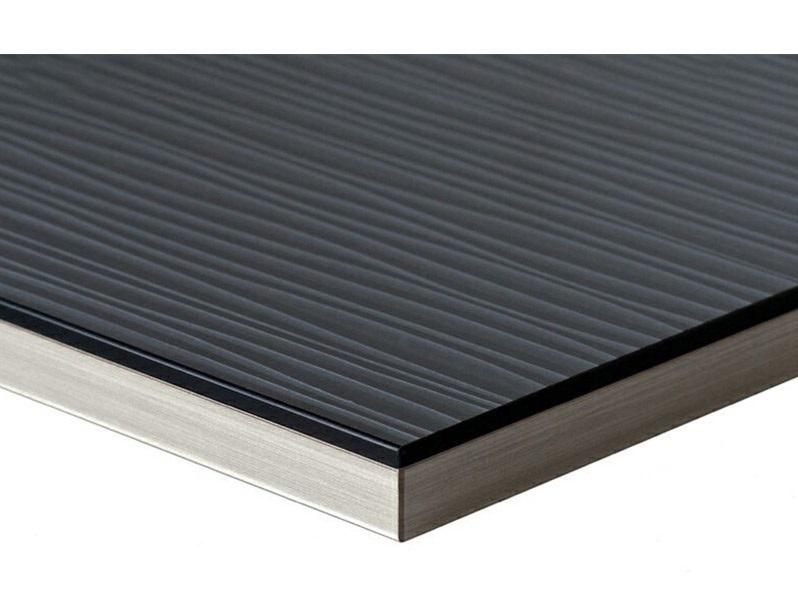 Полотно МДФ LUXE волна черная (Onda Negro) глянец, 1240*10*2750 мм, Т3