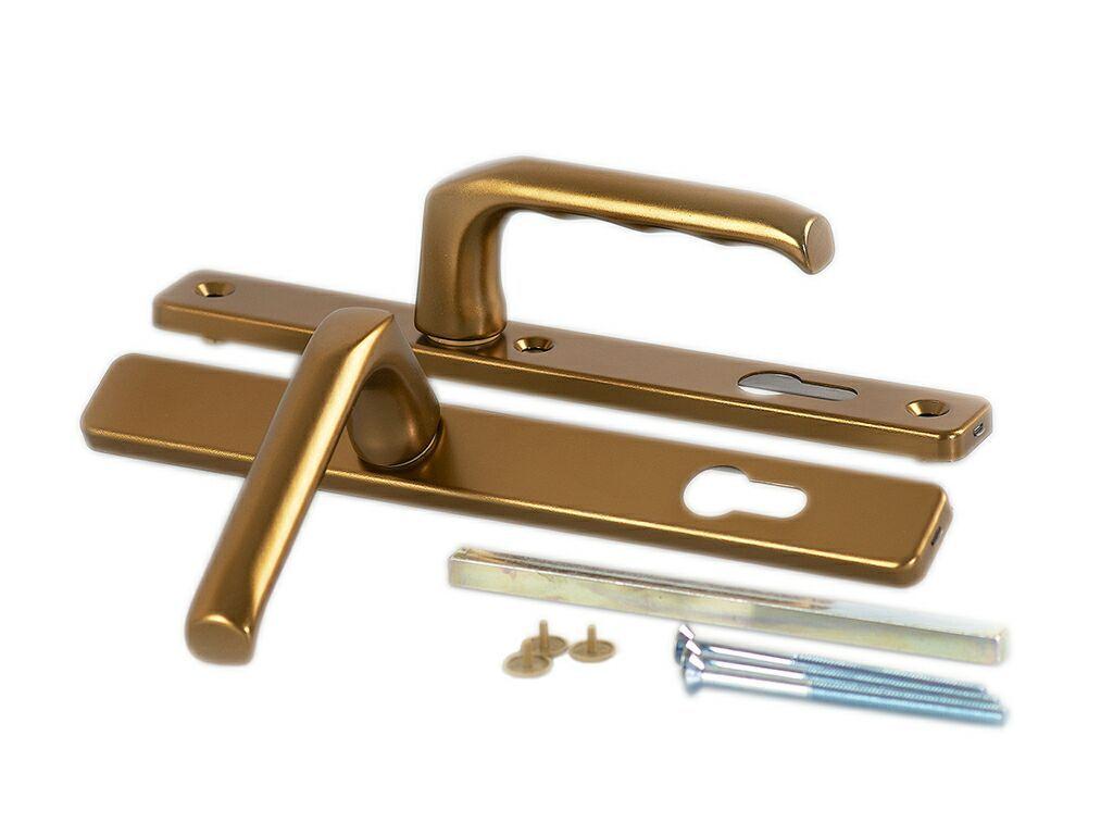 Гарнитур нажимной сплошной, бронза Hoppe (68-72)