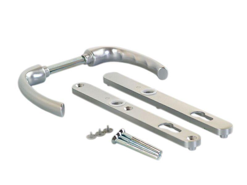 Гарнитур нажимной сплошной, серебро, 24 мм