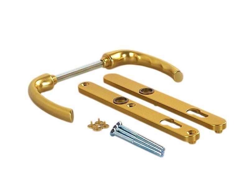 Гарнитур нажимной сплошной, золото матовое, 24 мм