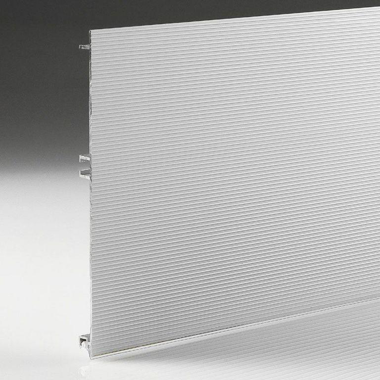 177 Цоколь кухонный, алюминиевый Рифленый 100мм L=4м FIRMAX