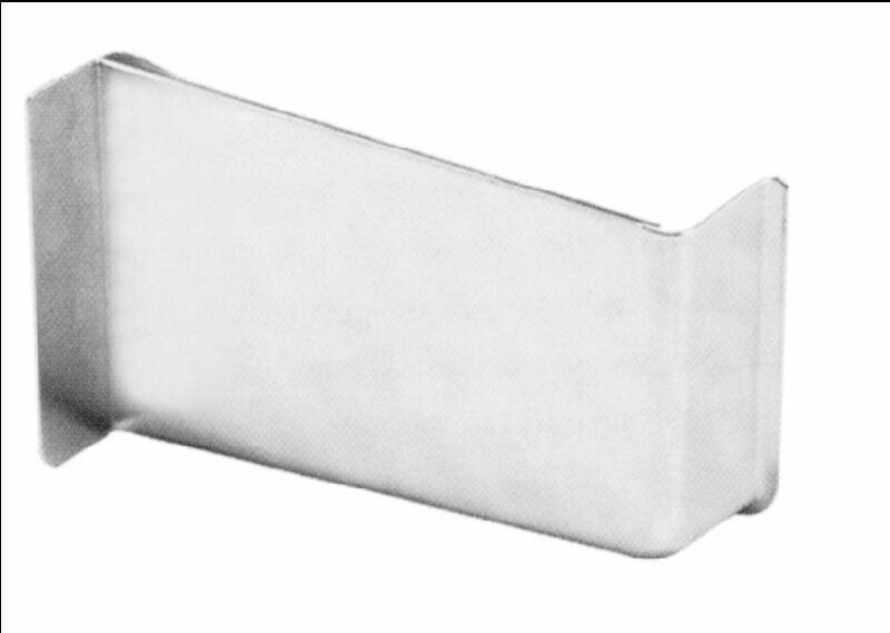 Декоративная накладка для навеса шкафа, левая, пластик, цвет алюминий