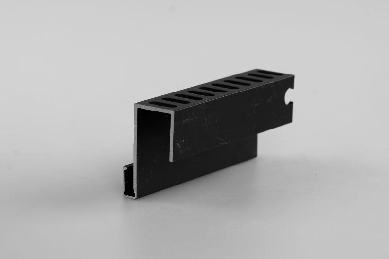 Алюминиевый профиль для примыкания черный, 4 м