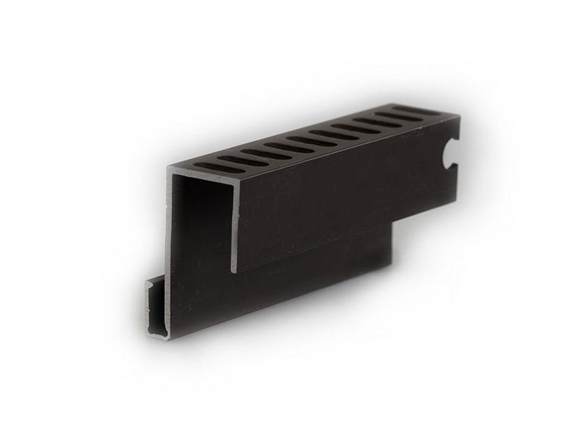 Алюминиевый профиль для примыкания темн корич., 4 м