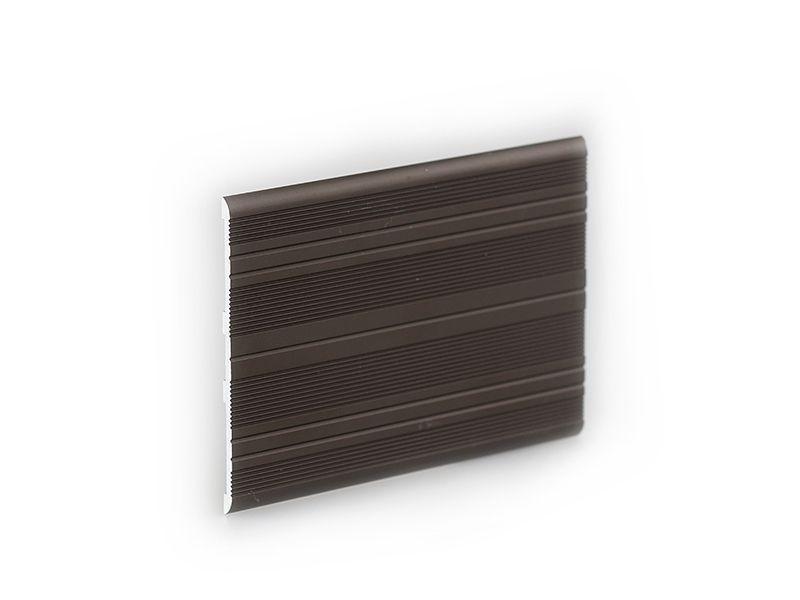 Алюминиевая   торцовочная планка 3х70 мм темн коричн., 2 м