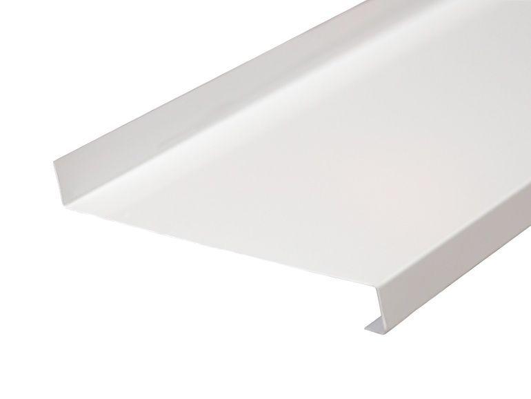 Отлив оконный BAUSET стальной 130 мм белый, 6м