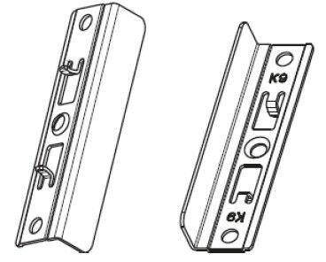 Балконная защелка магнитная на раме со штифтом FT30 NT