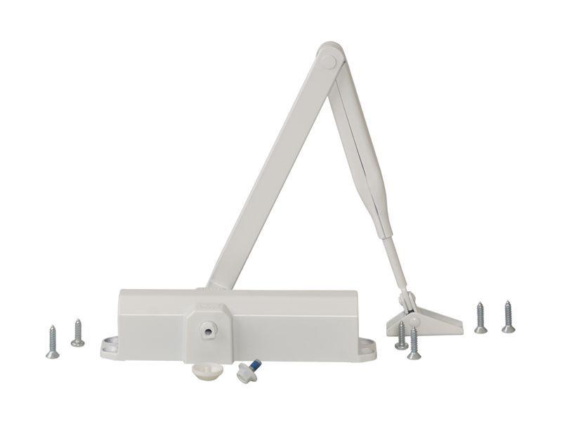 Доводчик DORMA TS-Compakt EN2/3/4 с тягой, белая  RAL9016