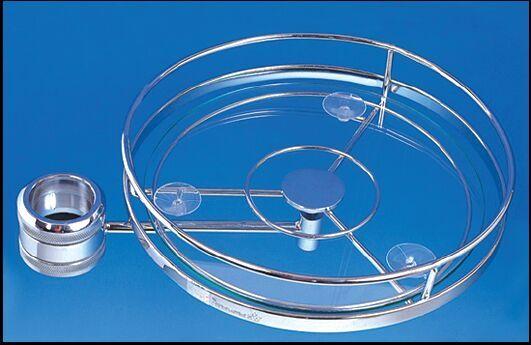 FIRMAX Полка для колонны круглая со стеклом 390х300×105 металл хром