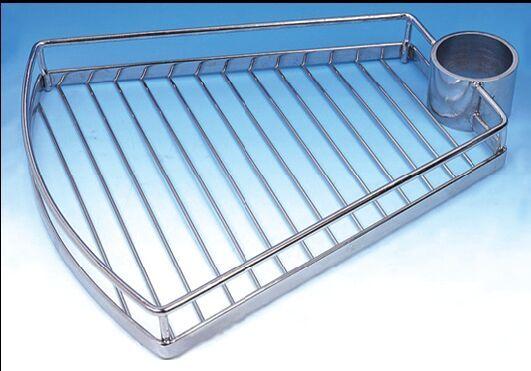 FIRMAX Полка для колонны сектор 390×320х75 металл хром