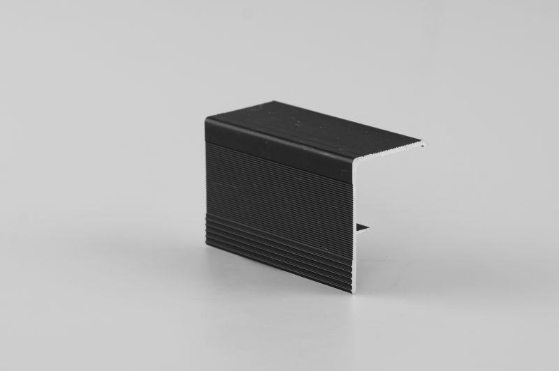 F-профиль алюминиевый комплект (2 проф) для торцов черный (026) 4,0 м