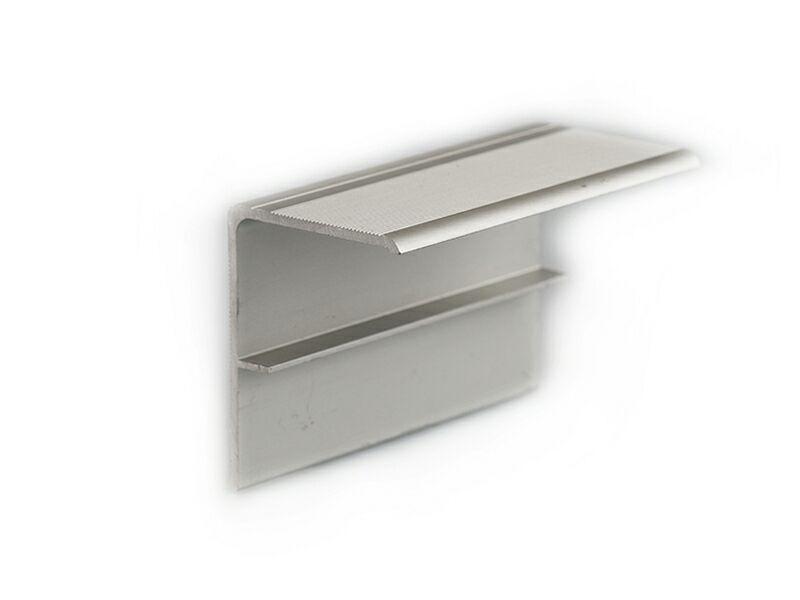 F-профиль алюминиевый комплект (2 проф) для торцов серебристый (024) 4,0 м