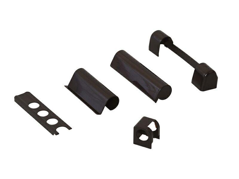 Комплект накладок для дерева левый коричневый RAL8077 (5 позиций)