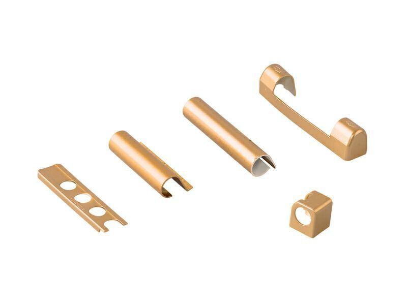 Комплект левый декоративных накладок для дерева Золото матовое (5 позиций)