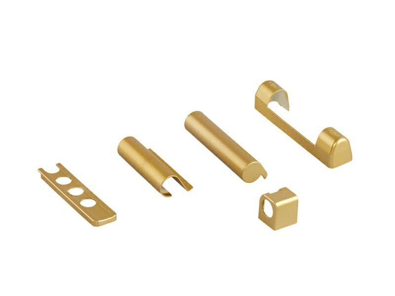 Комплект правый декоративных накладок для дерева Золото матовое (5 позиций)