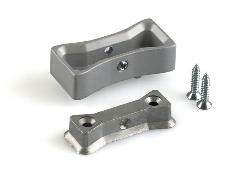 Крепление основного профиля пол/потолок/стена, серебро
