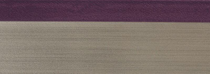 Кромка 3D баклажан глянец 23х1 мм, PMMA, двухцветная ALVIC